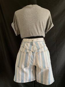 Vintage 1980's Blue and White Stripe Shorts