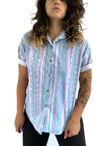 Vintage Abstract Button up