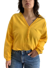 Load image into Gallery viewer, Vintage Yellow V-Neck Sweater
