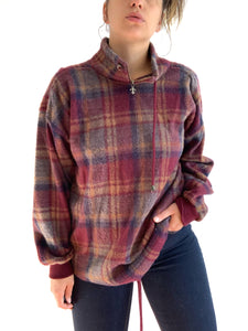 Vintage Plaid Sweater