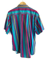 Load image into Gallery viewer, Vintage 1990s Stripe Button Up