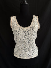 Load image into Gallery viewer, Floral Lace Tank Top