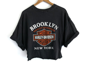Vintage faded & Cropped Harley Tee