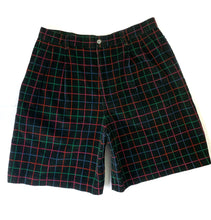 Load image into Gallery viewer, Vintage Plaid Corduroy Shorts