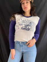 Load image into Gallery viewer, Y2K Retro Velour Comic Harley Davidson Shirt
