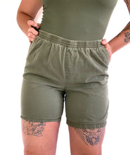 Load image into Gallery viewer, Vintage Green Lounge Shorts