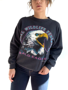 Vintage Bald Eagle Sweater