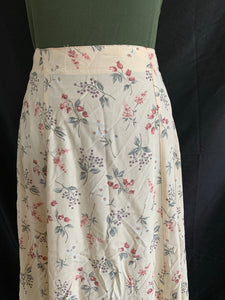 Vintage Yellow Flower Skirt