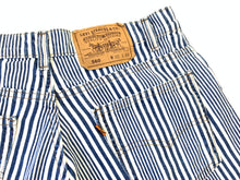 Load image into Gallery viewer, Vintage Orange Tab 560 Levi's Stripe Cutoff Shorts