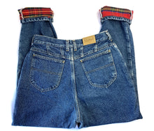 Load image into Gallery viewer, Vintage LL Bean Plaid Lined Jeans