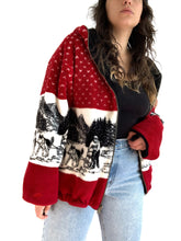 Load image into Gallery viewer, Vintage Red Sled Dog Thick Sweater Jacket