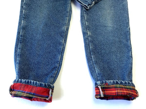 Vintage LL Bean Plaid Lined Jeans