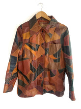 Load image into Gallery viewer, Vintage 1970s Montgomery Ward Leather Patchwork Jacket