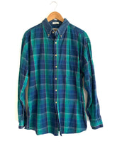 Load image into Gallery viewer, Vintage Plaid & Denim Button Up