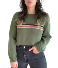 Load image into Gallery viewer, Comfy Green Stripe Sweater