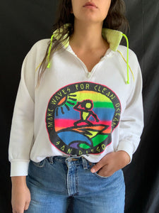 Vintage Surf Beach Earth Sweater