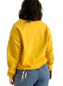 Vintage Yellow V-Neck Sweater