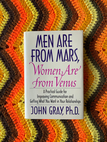 """Men Are From Mars, Women Are From Venus"" 1992 Vintage Book"