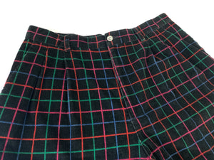 Vintage Plaid Corduroy Shorts