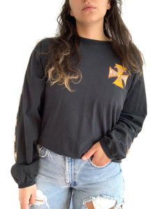Heavily Faded Biker Long Sleeve