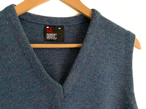 Vintage Blue Speckled Sweater Vest
