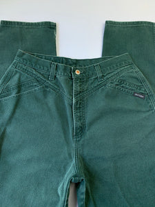 Vintage Faded Forest Green Rockies Jeans