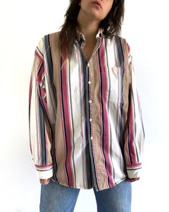 Vintage Stripe Button Up