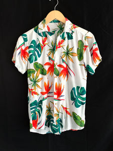 Vintage Monstera Plant Button Up