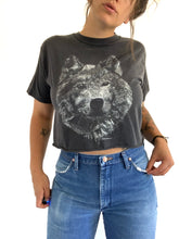 Load image into Gallery viewer, Vintage Faded & Cropped Wolf Tee