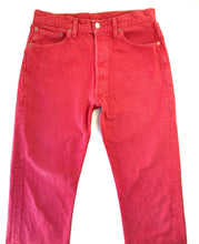 Load image into Gallery viewer, Vintage Cherry red 501 Levi's