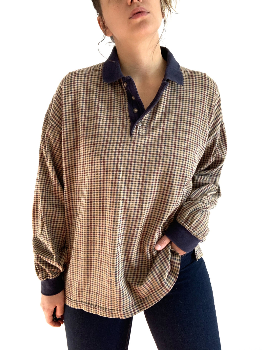 Vintage 1990s Plaid Long Sleeve