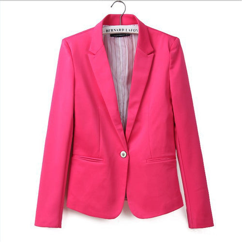 Women Candy Color Blazers