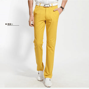 Fashion Men Straight Casual Pants
