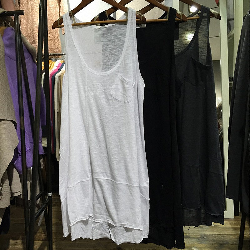 Solid Color Loose Tank Tops