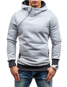 Solid Slim Fit Hooded Sweatshirt