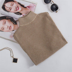 Knitted Slim Turtleneck Sweaters