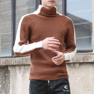 Knitted Turtleneck Pullovers Sweaters
