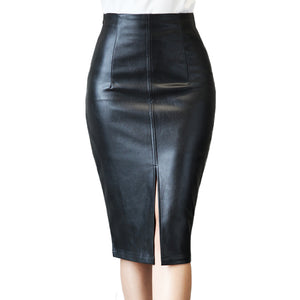 Slim Office Leather Skirts