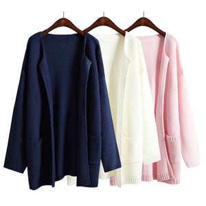 Solid Loose Long Sweaters