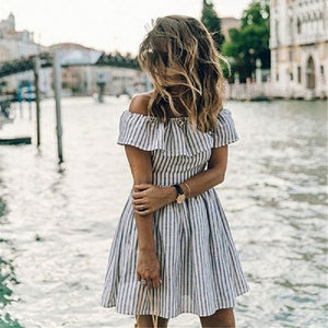 Off Shoulder Casual Mini Dresses