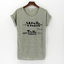 Letter Printed Women's T-Shirts