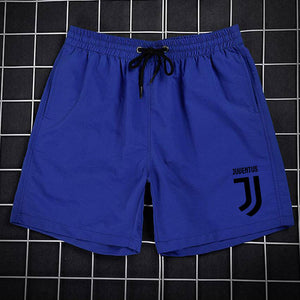 Eqmpowy Brand Summer New Casual Shorts Men Fit Juventus Printed Available Shorts Loose Elastic Waist Breathable Beach Shorts