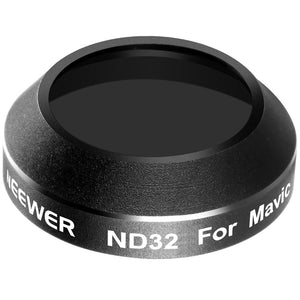 Neewer for DJI Mavic Pro Quadcopter Drone ND32 Lens Filter Lens Protector Waterproof Aluminum Alloy Frame Optical Glass (MC-16)