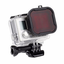 Load image into Gallery viewer, SHOOT Waterproof Case Lens Filters for GoPro Hero 4 3+/4 Black Silver Action Camera Red Filter for Go Pro Cam Diving Accessory
