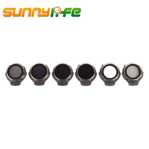 Sunnylife 6Pcs MCUV CPL ND4 ND8 ND16 ND32 Lens Filter Set for DJI Mavic Pro/Alpine White/Platinum for DJI Drone UAV Flight Kits