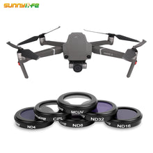 Load image into Gallery viewer, Sunnylife MC UV CPL ND4 ND8 ND16 ND32 Lens Filter for DJI MAVIC 2 ZOOM Drone Filters MCUV ND 4 8 16 32 Set Protect Camera Gimbal