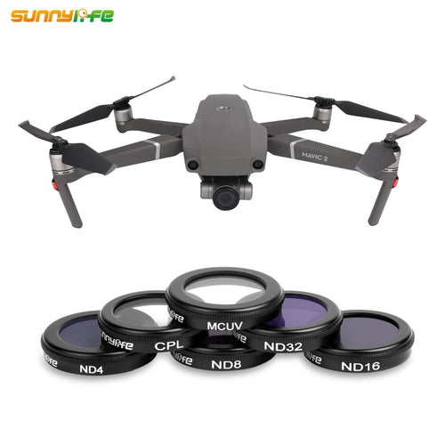 Sunnylife MC UV CPL ND4 ND8 ND16 ND32 Lens Filter for DJI MAVIC 2 ZOOM Drone Filters MCUV ND 4 8 16 32 Set Protect Camera Gimbal