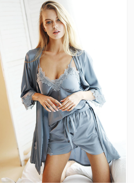 21042da69d3 Ice Silk Sexy Women Pajama Set – Bolamy.com