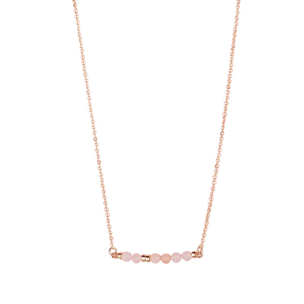 Collier GAÏA Quartz Rose - DNA