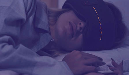 Dreamlight is a sleeping mask that uses lights and sounds to help you sleep better